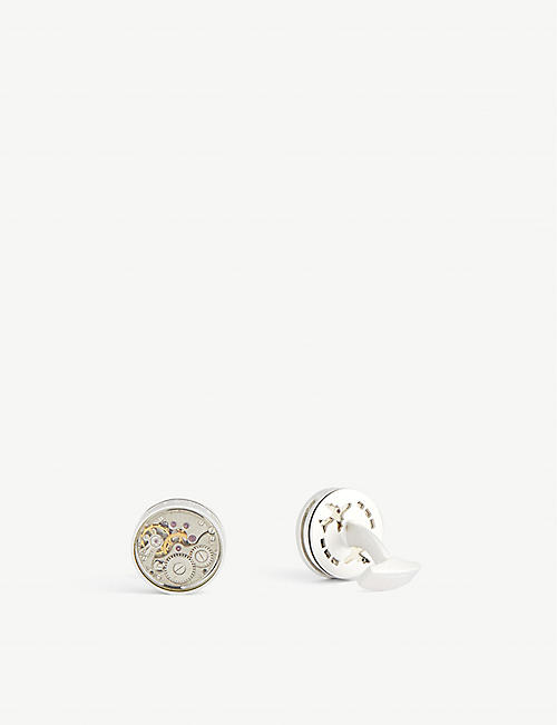 TATEOSSIAN: Skeleton gear brass cufflinks