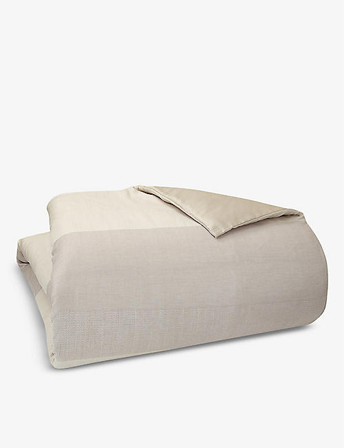 BOSS: Runway jacquard cotton-sateen duvet cover