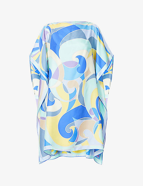 EMILIO PUCCI: Abstract-print silk kaftan
