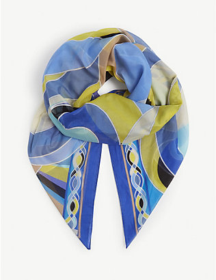 EMILIO PUCCI: Abstract-print cotton pareo scarf