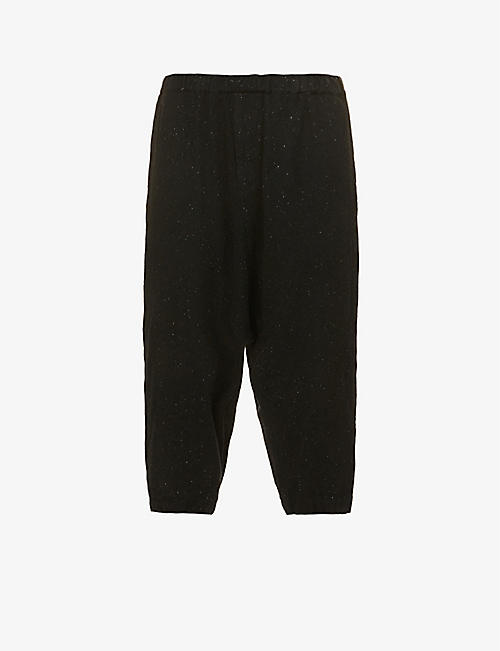 BLACK COMME DES GARCON: Straight-leg high-rise wool-blend trousers