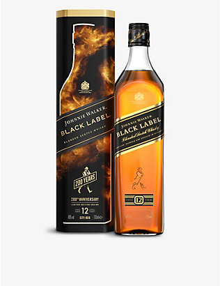 JOHNNIE WALKER: Johnnie Walker Black Label blended Scotch whisky tin 700ml