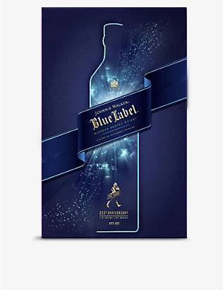 JOHNNIE WALKER: Blue Label whisky with glasses 700ml