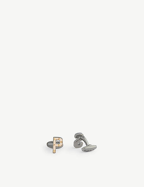 PAUL SMITH: Initial metal cufflinks