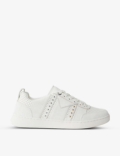 MAJE: Furious leather and suede trainers