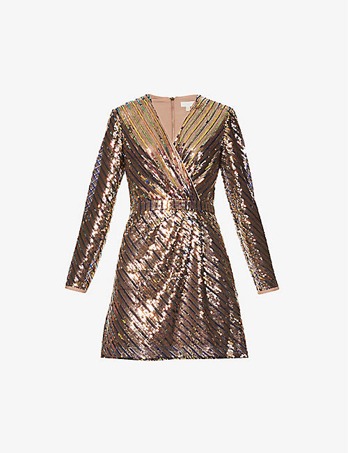 TED BAKER: Pippi sequinned mini dress