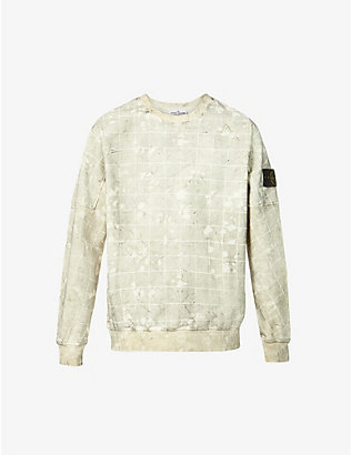 STONE ISLAND: Dust Colour Ghillie Laser Camo graphic-print stretch-cotton sweatshirt