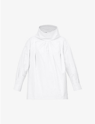 3.1 PHILLIP LIM: Funnel-neck oversized cotton shirt