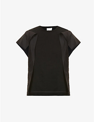 3.1 PHILLIP LIM: Contrast-panel cotton T-shirt