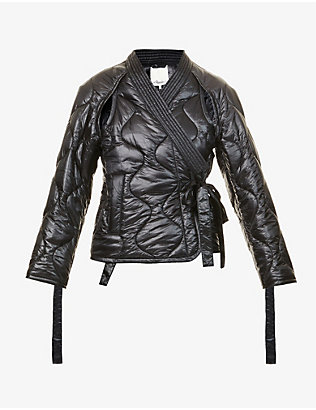 3.1 PHILLIP LIM: Quilted wrap-front shell jacket