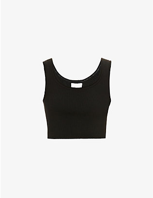 3.1 PHILLIP LIM: Sleeveless ribbed wool-blend vest