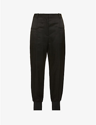 3.1 PHILLIP LIM: Tapered mid-rise satin-crepe trousers