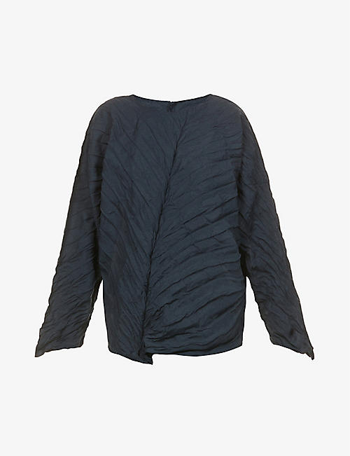ISSEY MIYAKE: Patch-pocket cotton poplin shirt