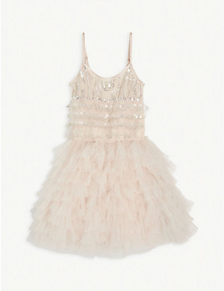 TUTU DU MONDE: Sequin-embellished cotton dress 4-11 years