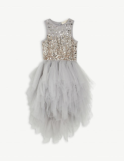 TUTU DU MONDE: Everglow embellished cotton and tulle tutu dress 4-11 years