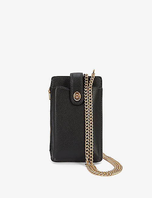 COACH: Signature leather cross-body phone bag