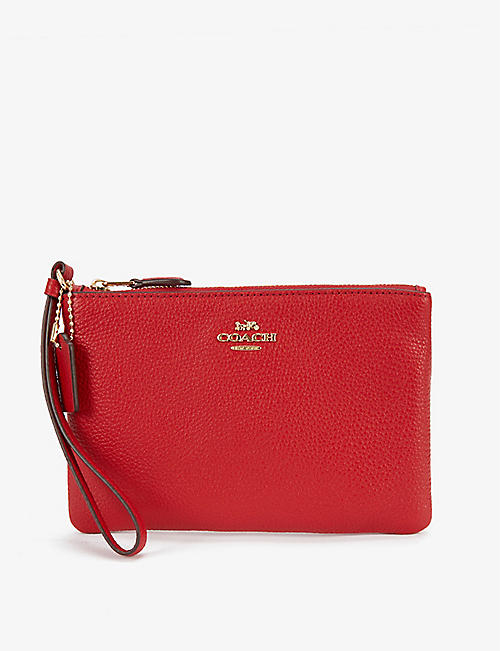 COACH: Small leather wristlet