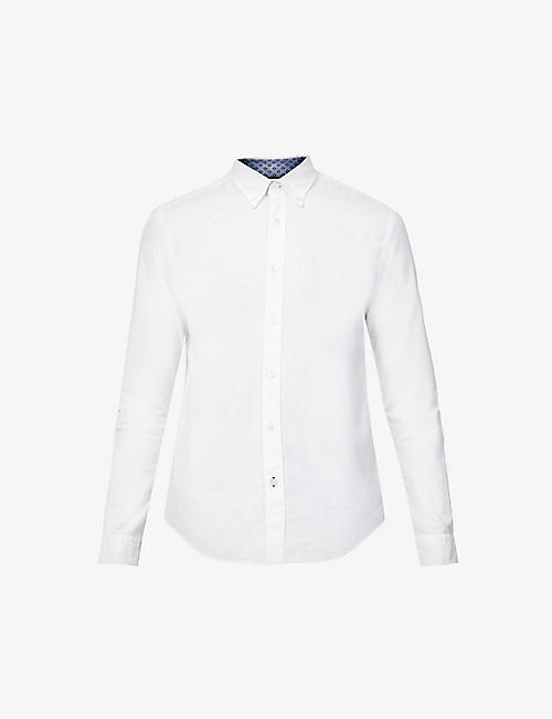 BOSS: Logo-embroidered slim-fit cotton shirt