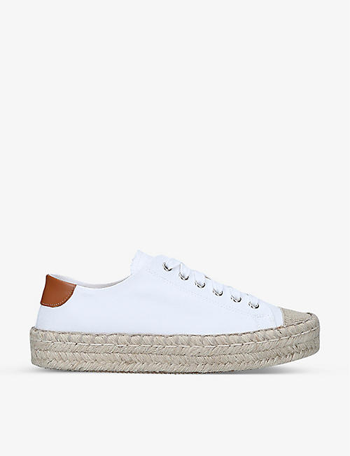 JW ANDERSON: Contrast-heel cotton-canvas low-top trainers