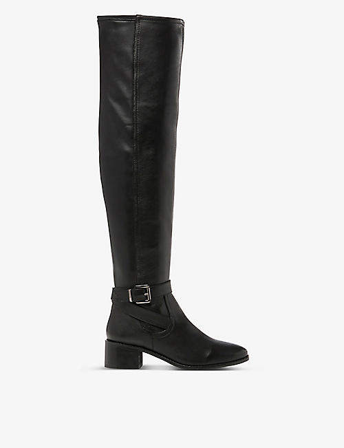 DUNE: Tesley leather over-the-knee boots