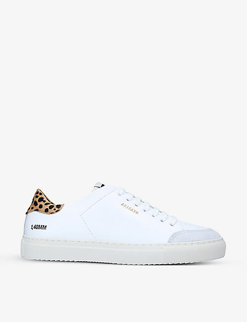 AXEL ARIGATO: Clean 90 Triple leopard-print leather trainers