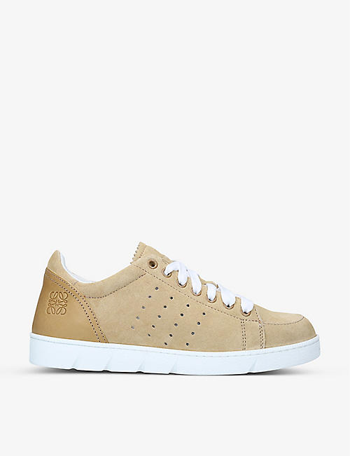 LOEWE: Soft branded suede trainers