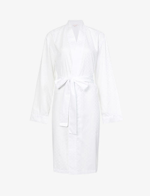 DEREK ROSE: Kate polka-dot cotton robe