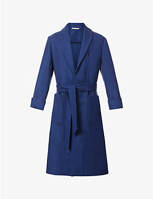 ERMANNO GALLAMINI: Solid wool, cashmere and cotton-blend coat
