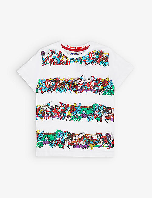 FABRIC FLAVOURS: Marvel Heroes cotton-jersey T-shirt 3-7 years