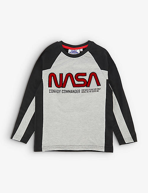 FABRIC FLAVOURS: NASA cotton-blend long-sleeve T-shirt 3-10 years