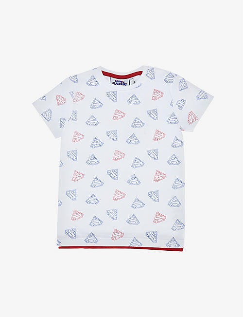 FABRIC FLAVOURS: Superman-print cotton T-shirt 3-10 years