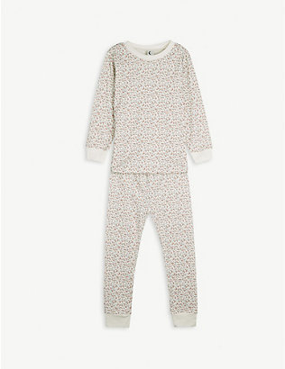 SLEEPY DOE: Floral-print organic cotton pyjama set 1-11 years