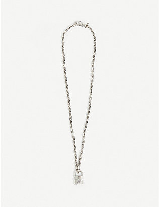 EMANUELE BICOCCHI: Skull Lock sterling silver necklace