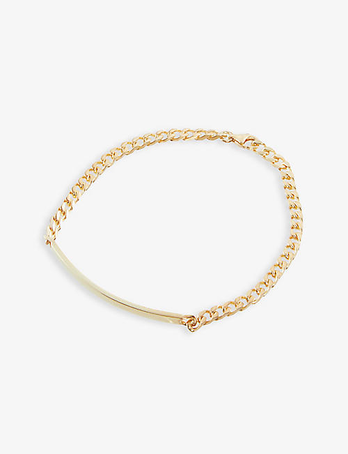 MIANSAI: Cuban-chain 18ct yellow gold-plated sterling-silver necklace