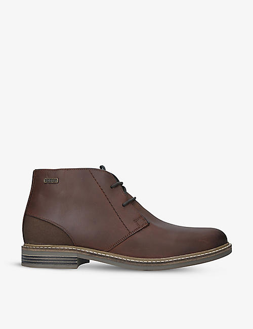 BARBOUR: Redhead leather chukka boots
