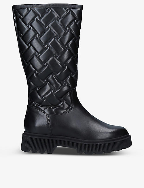 KURT GEIGER LONDON: Baton quilted leather boots