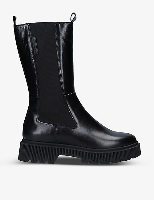 KURT GEIGER LONDON: Stint leather Chelsea boots