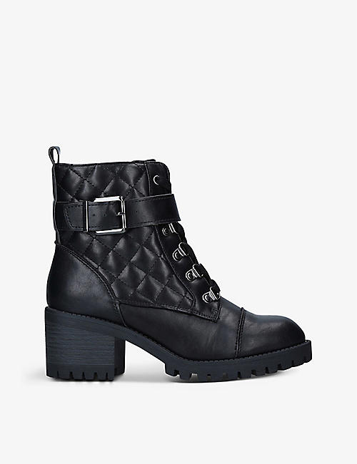 KG KURT GEIGER: Tata lace-up faux-leather boots