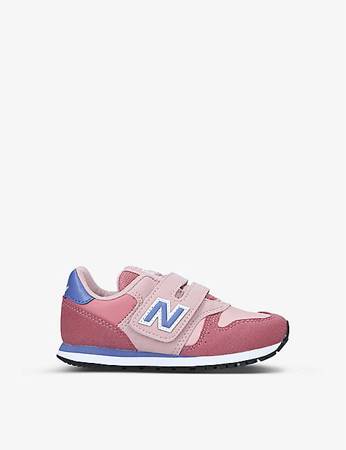 NEW BALANCE: 373 suede and textile trainers 6-9 years