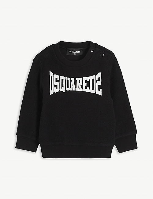 DSQUARED2: Logo-print cotton-jersey jumper 9-36 months