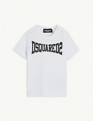 DSQUARED2: Logo-print cotton T-shirt 3-36 months