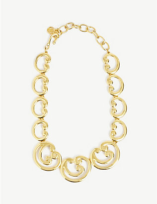 SUSAN CAPLAN: Pre-loved G-scroll gold-plated necklace