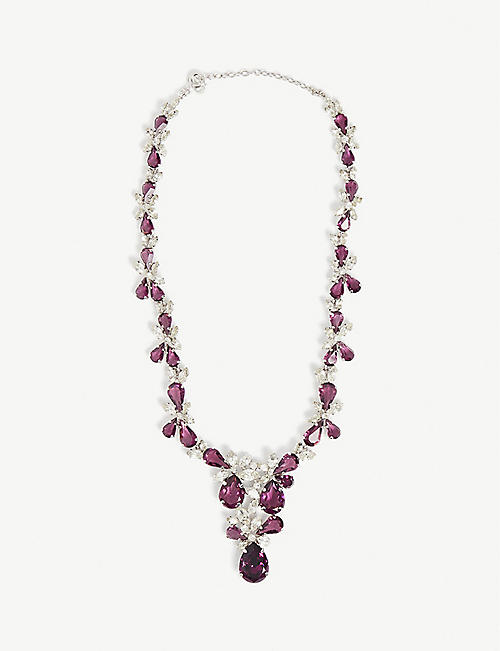 SUSAN CAPLAN: Pre-loved Christian Dior rhodium-plated and Swarovski necklace