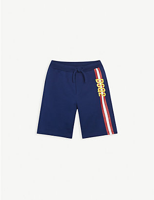 DSQUARED2: Logo-tape cotton-jersey shorts 8-16 years