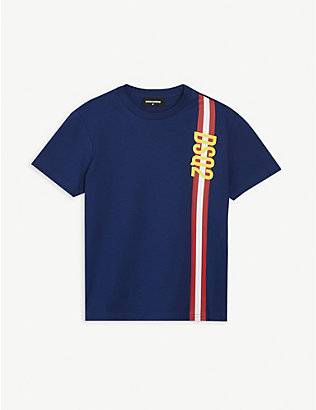 DSQUARED2: Logo-print cotton T-shirt 6-16 years