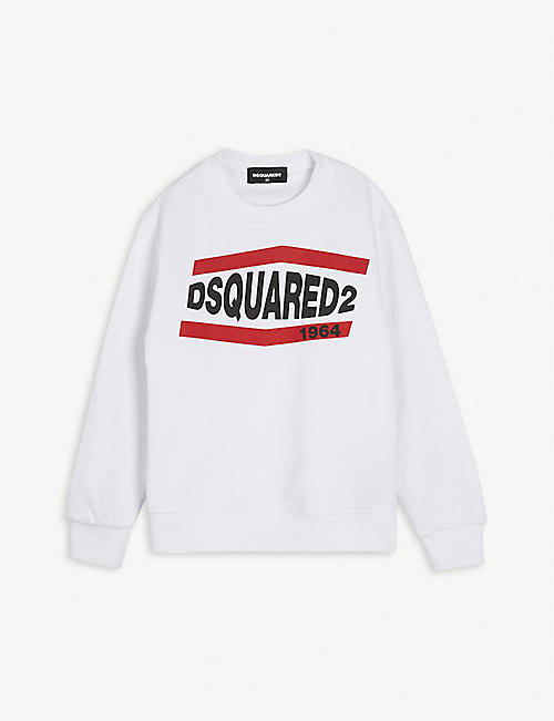 DSQUARED2: Logo-print cotton sweatshirt 4-16 years