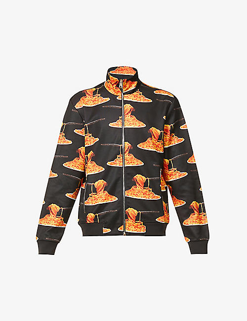 PAUL SMITH: Spaghetti graphic-print jersey tracksuit jacket