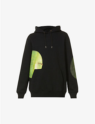 PAUL SMITH: Green Apple graphic-print cotton-jersey hoody