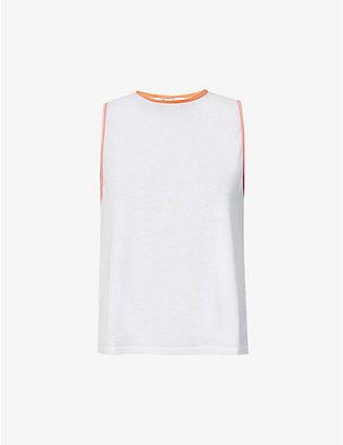 THE UPSIDE: Sarah dri-release sleeveless jersey tank top