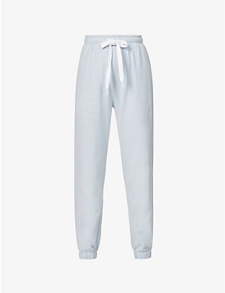 THE UPSIDE: Loire Captain relaxed-fit mid-rise cotton-jersey jogging bottoms